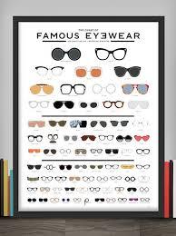 Chart Of Famous Eyewear The Chart Of Famous Eyewear Fashion Infographic Fashion