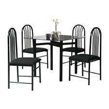gg baxton studio 5 piece modern dining set 2. 5 piece glass dining set metal table chairs home kitchen furniture square black gg baxton studio modern 2 i