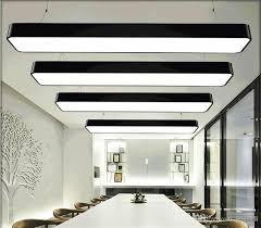 office pendant light. Hanging Wire Aluminum Ceiling Lamp Office 120cm Bar Lights Rectangular Pendant Light Modern Led Chandelier Fixture For Diy