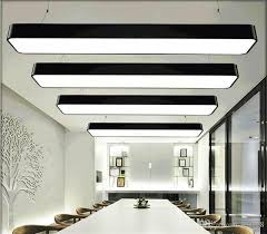 hanging wire aluminum ceiling lamp office 120cm bar lights rectangular ceiling pendant light modern led chandelier lamp fixture for office diy pendant lamp