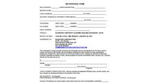 Free Proposal Forms Unique Construction Proposal Form Samples 48 Free Documents In PDF