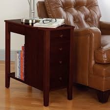 living room end tables with drawers. no-room-for-a-table table™ with drawers, dark cherry living room end tables drawers