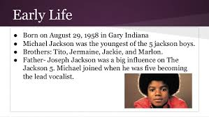 ways not to start a michael jackson biography essay michael jackson biography news photos and videos
