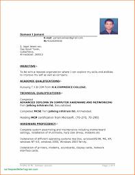 Simple Blank Resume Format Download In Ms Word Curriculum Vitae Cv