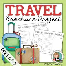 Travel Brochure Template Worksheets Teaching Resources Tpt