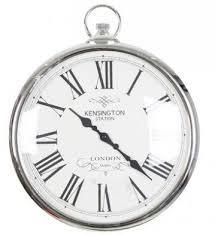 roxy silver 35cm wall clock silver