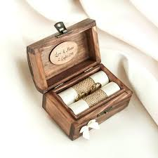 ring holder box personalized wedding ring box wooden ring box ring holder with ribbon in various ring holder box