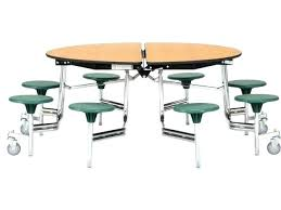 cafeteria tables for round and chairs folding table chrome 8 stools used school