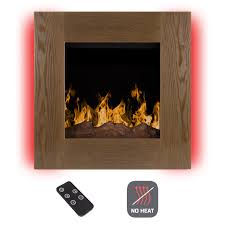 electric fireplace wall mounted with led fire of ice flame adjustable heat remote contro
