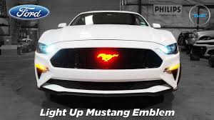 Light Up Car Emblems Mustang Light Up Led Emblem