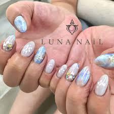 夏色タイダイネイル Luna Nailルナネイルのネイルデザイン