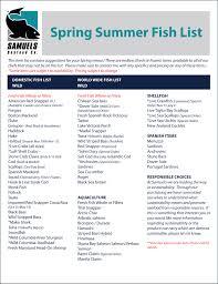 seasonal fish list samuels seafood