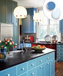 Colorful Kitchen Cabinets 12 Kitchen Cabinet Color Combos That Really Cook Shaker Style