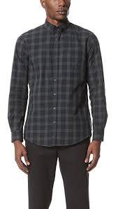 steven alan men s masters shirt black plaid x small