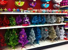 the office christmas ornaments. of course the addition white christmas tree in office led me to spend some time this aisle. they made skirts two sizes for ornaments
