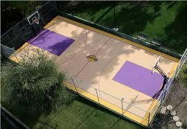 How Much Would A Backyard Basketball Court Cost  Home Outdoor Backyard Tennis Court Cost