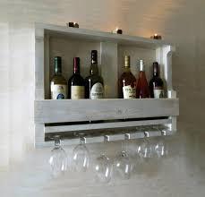 wooden wine rack hanging wine glass
