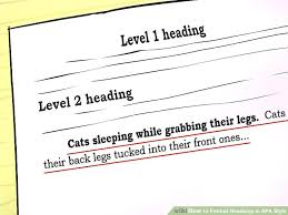 Apa Paper Heading 3 Ways To Format Headings In Apa Style Wikihow