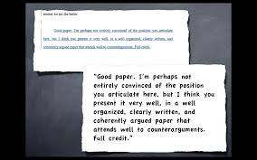 advanced essay writing techniques work and here s the proof  grade and comment for a larger paper
