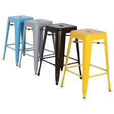 outdoor counter height stools. Chintaly Tremont 30 In Galvanized Steel Backless Bar Outdoor Counter Height Stools C