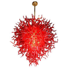 dale chihuly style murano glass chandelier