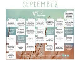 Daily Calendar Impressive Get Out Of Your Head And Into Your Life With September's Mindful