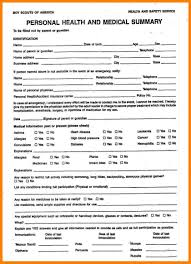 Sample Bsa Medical Form Amazing Boy Scout Medical Form Gallery Best Resume Examples And 3