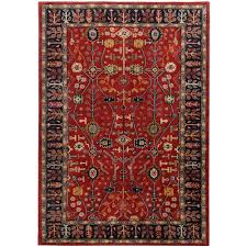 oriental rugs awesome surya ancient treasures red navy oriental rug a135