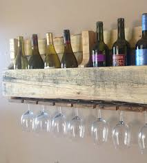 Reclaimed Wood Wine Cabinet Natural Finish Salvaged Wood Wine Rack 8 Bottle Home Kitchen