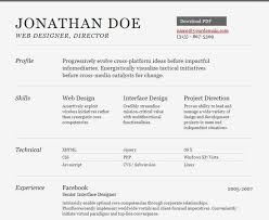 Resume Html Template Custom 48 Free HTML Resume Templates For Your Successful Online Job