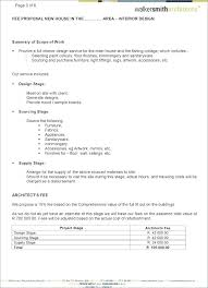 Construction Proposal Letter Fee Proposal Template Non Profit Project Proposal Template Concept