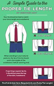Tie Length Guide Learn Proper Placement To Get The Correct