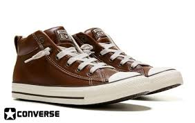 converse shoes p44i6579 converse chuck taylor all star street mid top sneakers mens pinecone markdown leather brown ajlmoqtv07