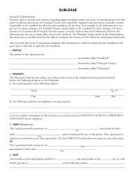 Sublease Agreement Samples 40 Professional Sublease Agreement Templates Forms Template Lab