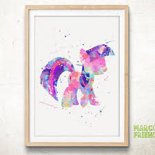 little pony twilight sparkle watercolor from marcofriend on