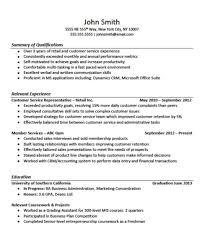 Customer Service Resume Template For Microsoft Word Livecareer Sa