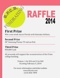 things to raffle off at a fundraiser 16 free raffle flyer templates prize cash 50 50 fundraising and