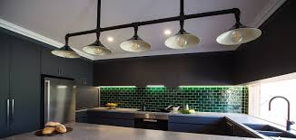 kitchen bench overhead decorative task lighting