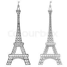 Illustration Of Eiffel Tower With Two Stock Vector Colourbox
