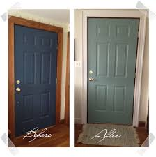 painting interior doors love the after color with the white molding trim