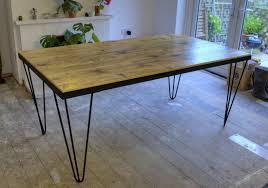 scaffold board table metal framed