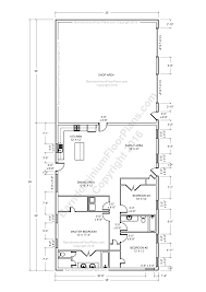 barn home floor plans. Delighful Home 3 Bedroom 2 Bath Barndominium Floor Plan Based On 35 Foot Wide Building Inside Barn Home Plans R