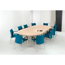 alpine essentials half round end meeting conference table pole leg 2