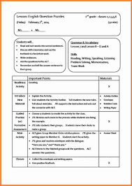 Lesson Plans Formats Elementary 003 Lesson Plans Template Elementary Ideas Plan Examples Co Teaching