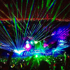 Laser Light Show Colorado Pretty Lights Illuminates Red Rocks For Two Nights With New