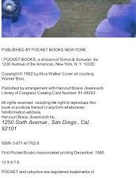Read E Book The Color Purple Alice Walker Pdf Free Download Coloring