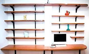 Home office wall shelving Custom Build In Desk Office Shelving Ideas Home Office Shelving Inspiring Home Office Shelving Ideas With And Shelf Shelves Home Omniwearhapticscom Office Shelving Ideas Omniwearhapticscom