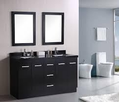 Dark Bathroom Cabinets Bathroom Excellent Dark Bathroom Vanity Ideas With Double Sink
