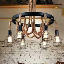luxury retro rope industrial pendant lights vintage for style light fixtures design edison bulb fixture canada