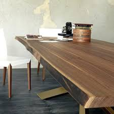 real wood dining table view in gallery dining table with irregular solid wood edges by solid